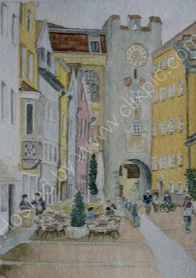 Bruneck Altstadt 24cm x 28cm