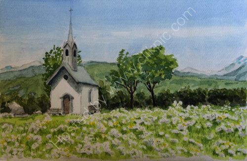 Chapel in the fields 3 Reischach. 34cm x 23cm