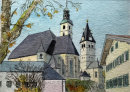 Churches Kitzbuhel 20x28cms