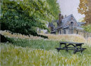 Home farm Cotehele Cornwall 36x26cms