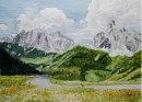 Mountain road in the Dolomites 28cm x 20cm