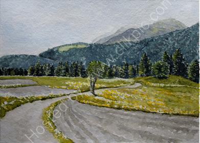 Field path from Reischach to Bruneck
