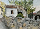 Galsaun, ruined house 28x20cms
