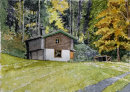 House on walk to Aschau 3 20x28cms