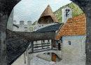 Inside the castle of Kastelbell 28cm x 20cm