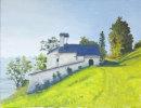 Kapelle St Stefan, Burgeis Oil on canvas 46cm x 35.5cm