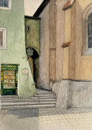 Alley in Kitzbuhel 28x20cms