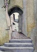Passage through the walls in Kitzbuhel 28cm x 20cm