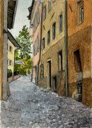 Brixen side street 28x20cms