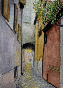 Alley between the main thoroughfares 28cm x 20cm
