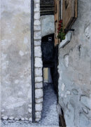 A closer view of narrow alley Malcesine 28x20