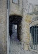 Narrow passageway in Malcesine 28cm x 20cm