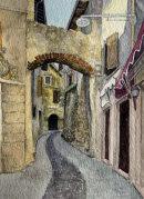 Roman archway in Malcesine 28cm x 20cm