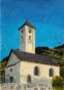 Old church at Mals 28x20cms