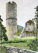 Mals tower 2 28x20cms