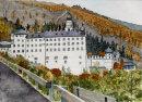 Marienberg monastery Burgeis 26x36cms