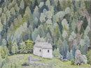 Matsch Kapelle and Schlossruine Oil on canvas 50cm x 40cm