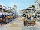 Piazza Erbe Verona Oil on canvas 61cm x 46cm