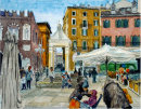 Another view of Piazza Erbe Verona 26cm x 36cm