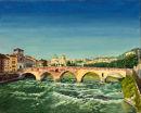 Ponte Pietra, Verona Oil on canvas 50cm x 40cm