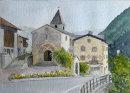 Prad church & Priest's house 26x36cms
