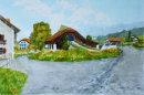 Farms at Reischach 32cm x 21cm