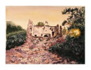 Sandima ruined house at sunset 20x27.7cms