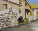 Schlanders street scene 2 Oil on canvas 50cm x 40cm
