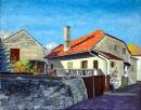 Schlanders farm house Oil on canvas 50cm x 40cm