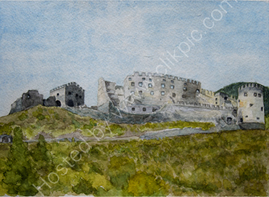 Schloss Lichtenberg 25cm x 36cm