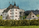 Schloss Munichau Reith 20x28cms