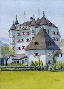 Schloss Munichau Reith bei Kitzbuhel 20x28cms