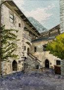 Schloss Taufers courtyard 28x20cms