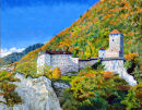 Schloss Tirol Oil on canvas 50cm x 40cm