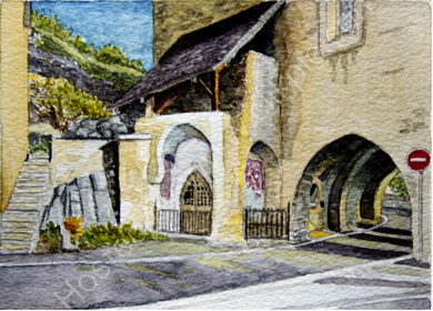 St Leonards church from the other side 28cm x 20cm