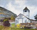 Church of St Sisinius, Laas Oil on canvas 50cm x 40cm