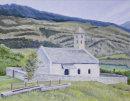 Church in the field at Tartsch Oil on canvas 46cm x 35.5cm