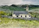 Tartsch church in the field 26x36cms