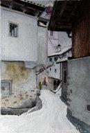Tschars village centre, first snow 20 cm x 28 cm