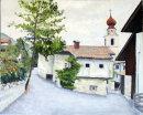 Tschars church, Val Venosta Oil on canvas 51cm x 41cm
