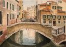Venice bridge 25x34cms