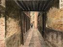 Venice passageway 28x37cms