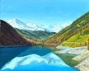 Vernagt Stausee Oil on canvas 50cm x 40cm