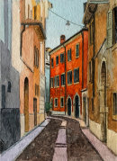 Verona street scene 28x20cms