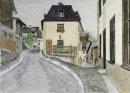 Village street Matsch 25x36