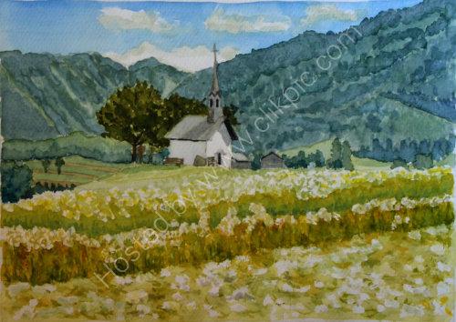 Chapel in the fields 2 Reischach 28cm x 20cm