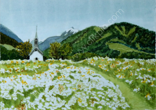 Chapel in the fields 4.Reischach . 28cm x 20cm