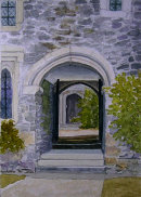 Cotehele archway Cornwall 28x20cms