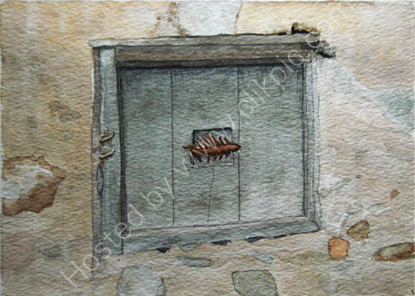 'Fish Window' in Tschars 28cm x 20cm