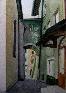 kitzbuhel alleyway 28x20cms